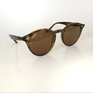 Ray Ban Tortoise Brown Round Sunglasses RB2180